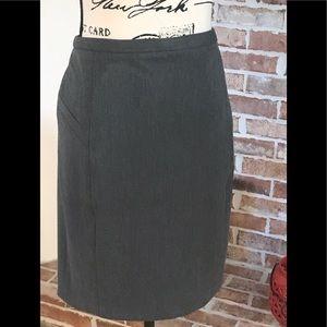 Express Design Studio Grey Work Skirt